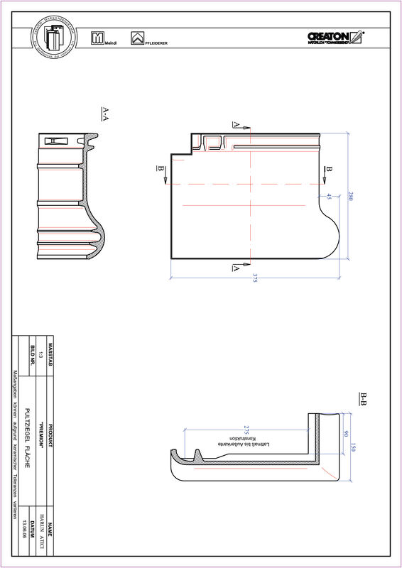 Plik CAD produktu PREMION dachówka pulpitowa PULT
