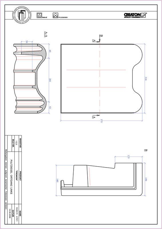 Plik CAD produktu PREMION dachówka pulpitowa boczna lewa PULTOGL
