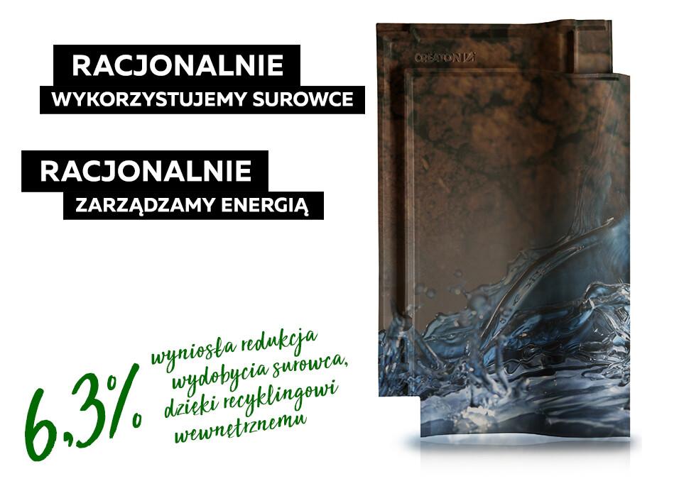 6,3% wyniosła redukcja wydobycia gliny dzięki recyklingowi wewnętrznemu w CREATON Polska