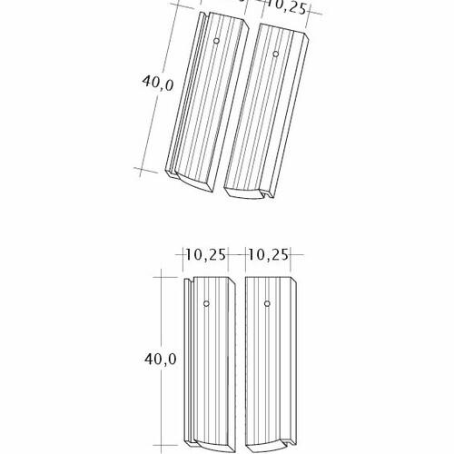 Rysunek techniczny produktu PROFIL Strangfalz-gewellt-1-2