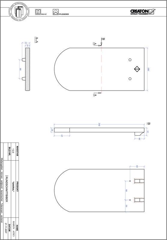 Plik CAD produktu SAKRAL krój zaokrąglony RUND-1-1