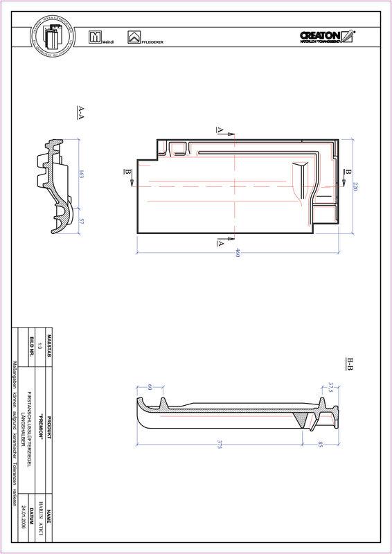 Plik CAD produktu PREMION dachówka kalenicowa wentylacyjna połówkowa FALLH