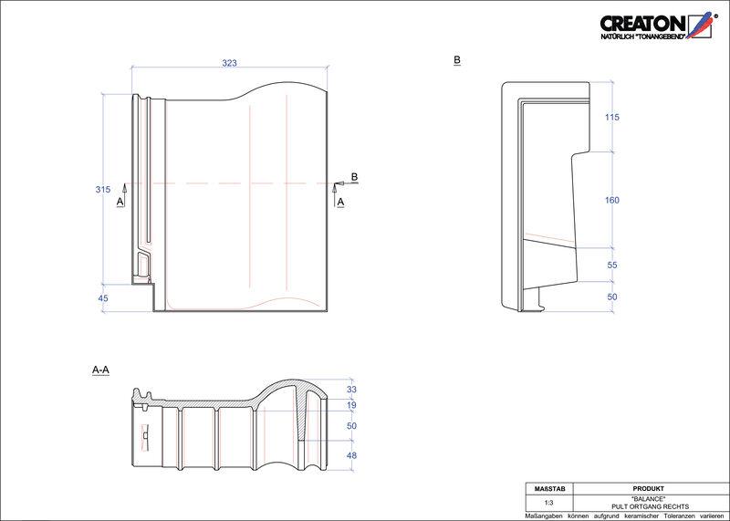 Plik CAD produktu BALANCE dachówka pulpitowa boczna prawa PULTOGR