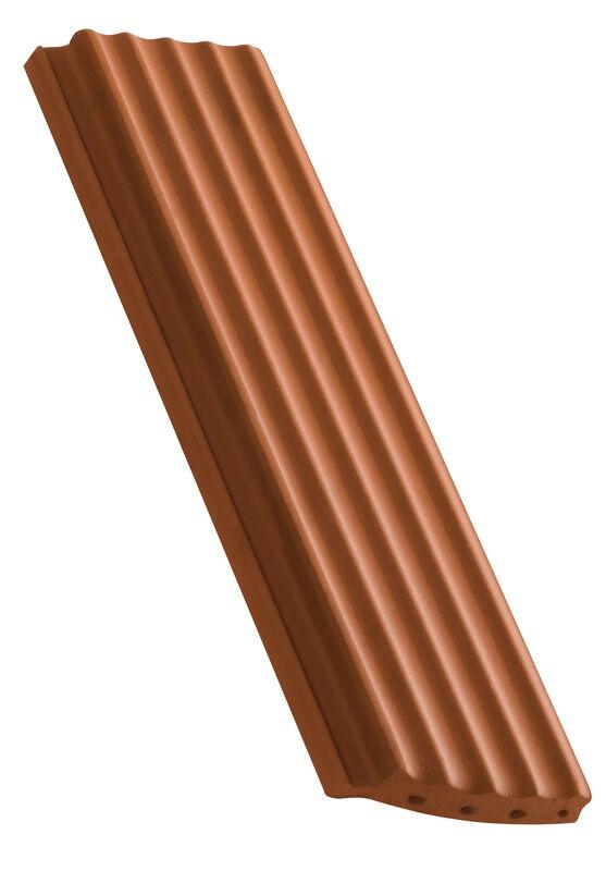 Karpiówka zakładkowa powierzchnia pofalowana krój segmentowy dachówka połówkowa