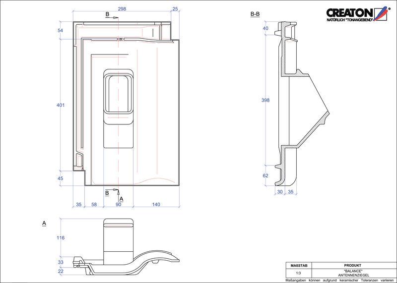 Plik CAD produktu BALANCE dachówka antenowa ANTENNE