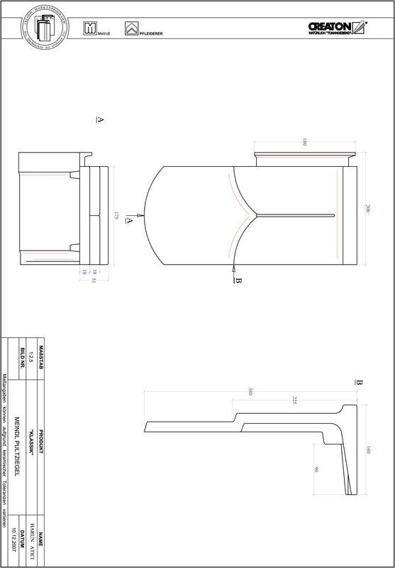 Plik CAD produktu KLASSIK krój zaokrąglony RUND-PULT