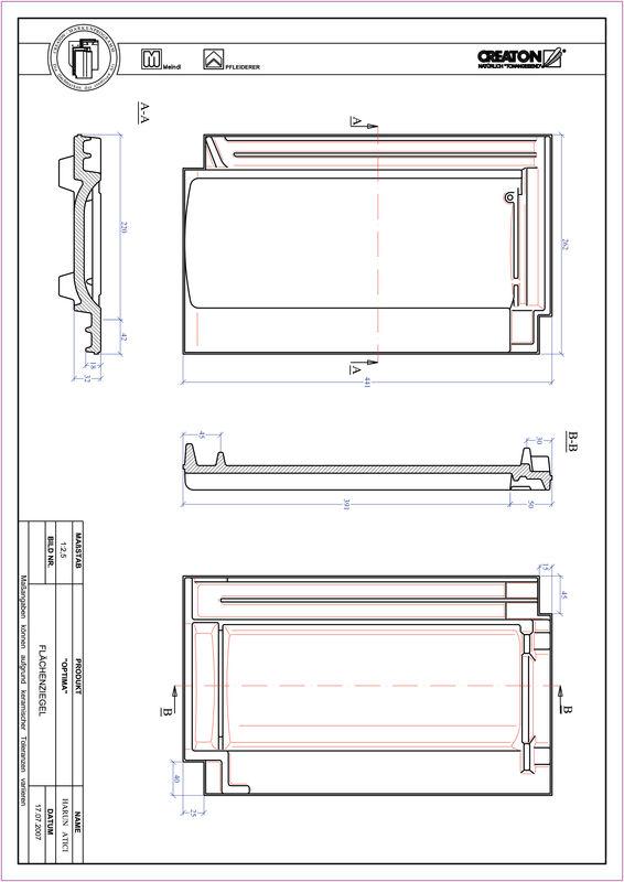 Plik CAD produktu TERRA OPTIMA dachówka połaciowa FLA