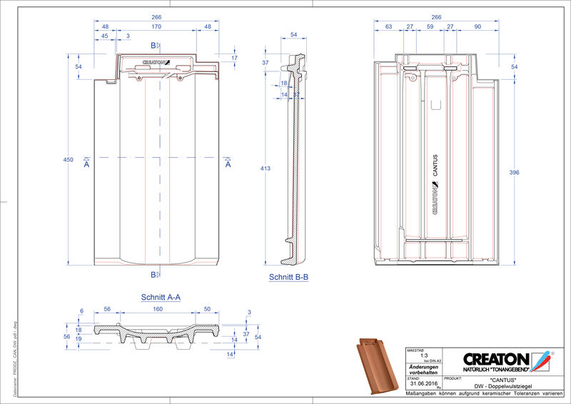 Plik CAD produktu CANTUS dachówka dwufalowa DWZ