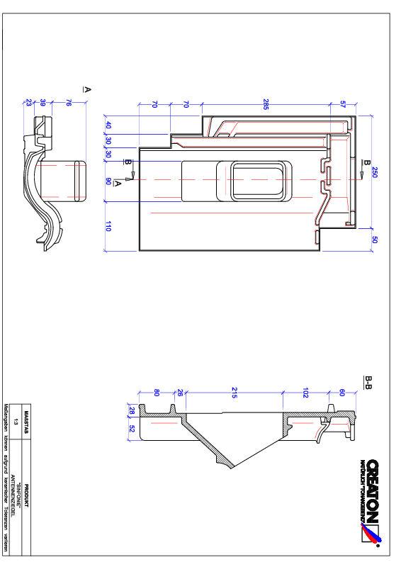 Plik CAD produktu SINFONIE dachówka antenowa ANTENNE