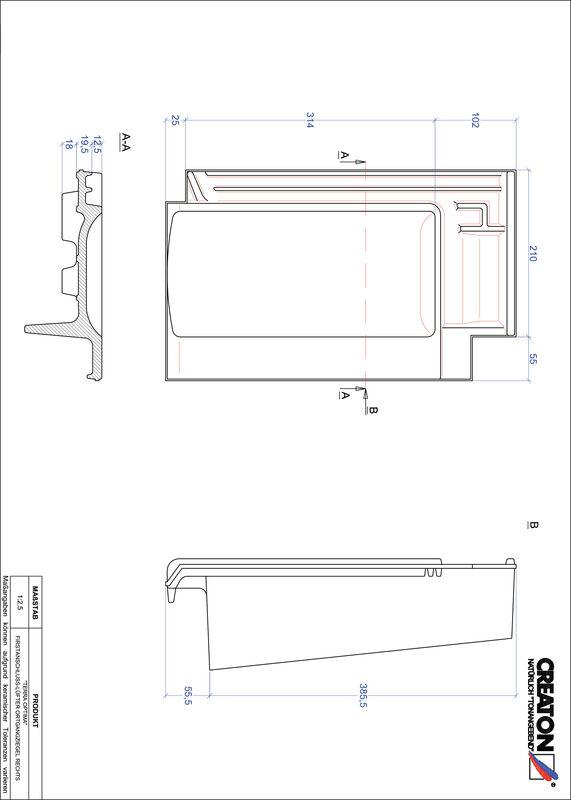 Plik CAD produktu OPTIMA dachówka kalenicowa wentylacyjna boczna prawa FALOGR