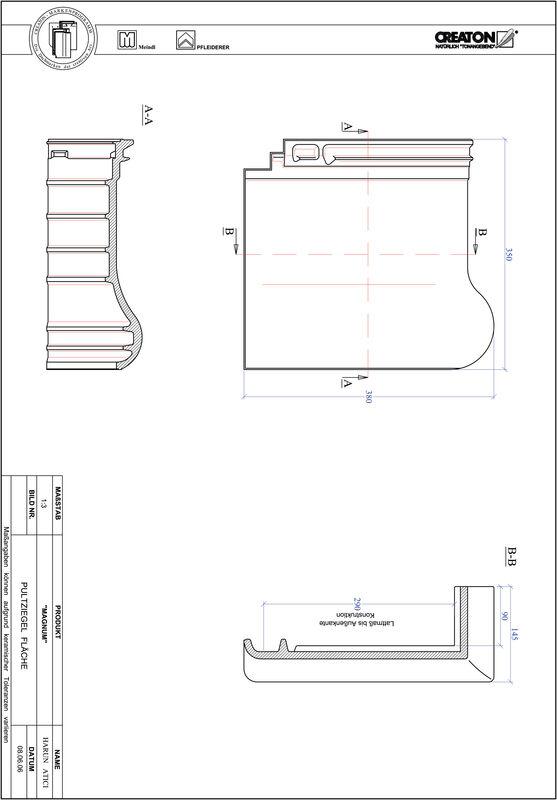 Plik CAD produktu MAGNUM dachówka pulpitowa połaciowa PULTFLA