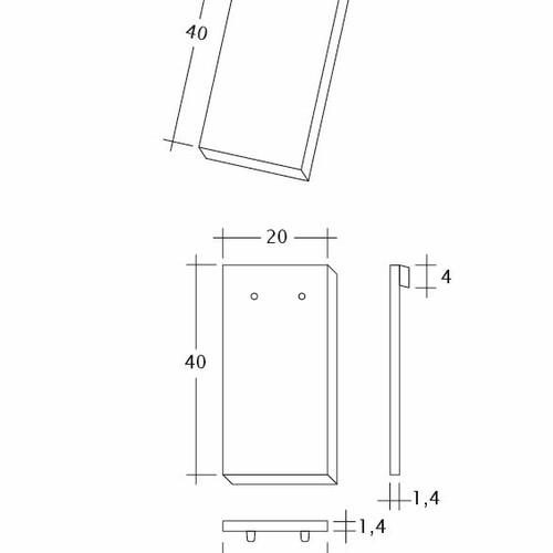 Rysunek techniczny produktu AMBIENTE Ger-1-1