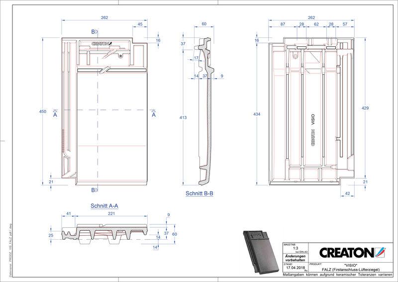 Plik CAD produktu VISIO dachówka kalenicowa wentylacyjna FALZ
