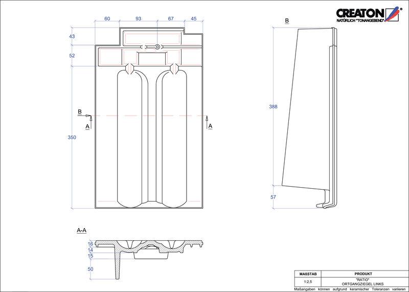 Plik CAD produktu RATIO dachówka boczna lewa OGL