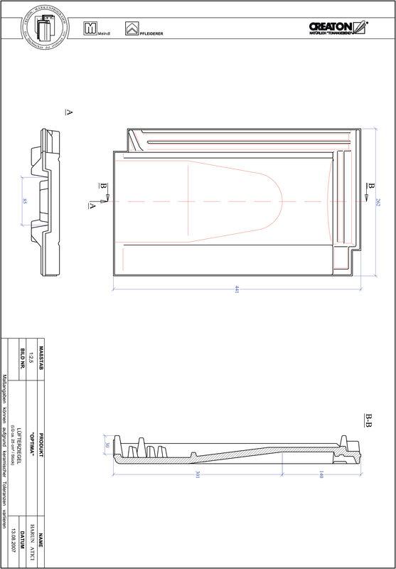 Plik CAD produktu TERRA OPTIMA dachówka wentylacyjna LUEFTZ