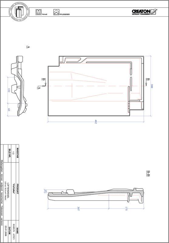 Plik CAD produktu FUTURA dachówka wentylacyjna LUEFTZ