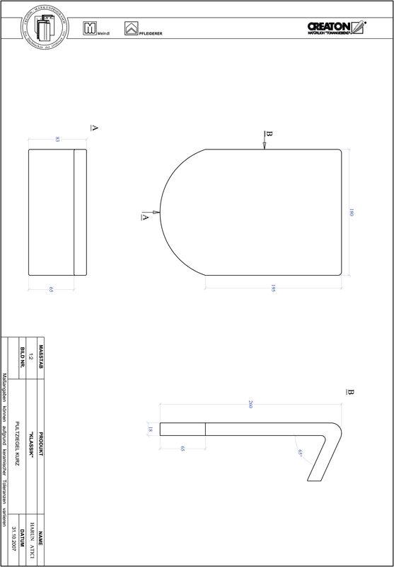 Plik CAD produktu KLASSIK krój zaokrąglony RUND-PULT-kurz1