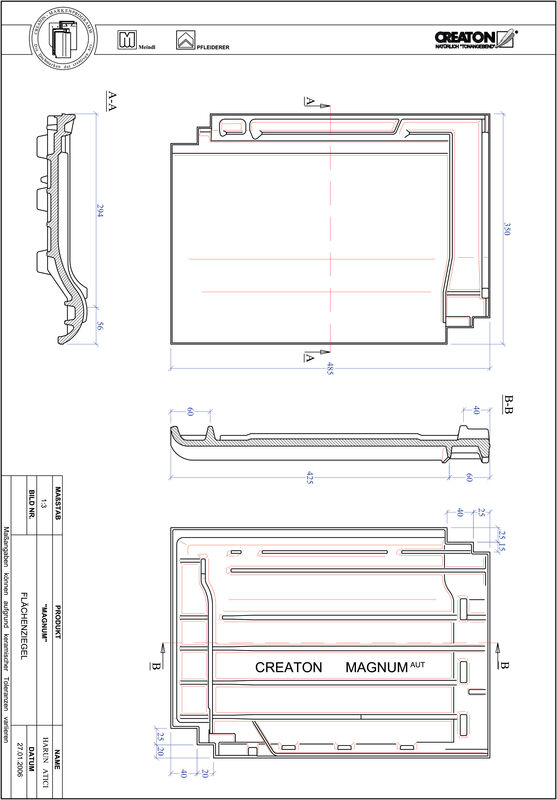 Plik CAD produktu MAGNUM dachówka połaciowa FLA