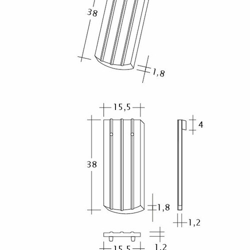 Rysunek techniczny produktu PROFIL Kera-Saechs-15cm-1-1