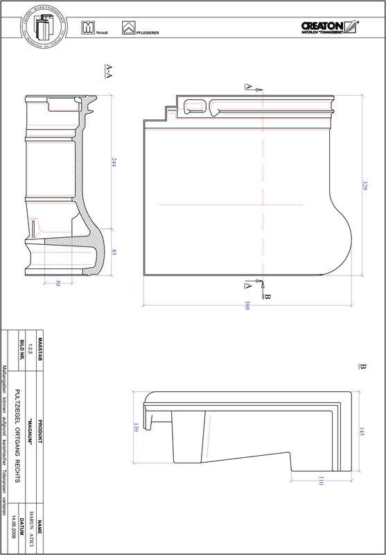 Plik CAD produktu MAGNUM dachówka pulpitowa boczna prawa PULTOGR