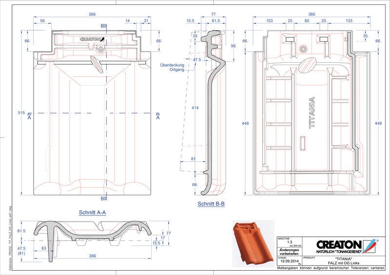 Plik CAD produktu TITANIA dachówka kalenicowa wentylacyjna boczna lewa FALOGL