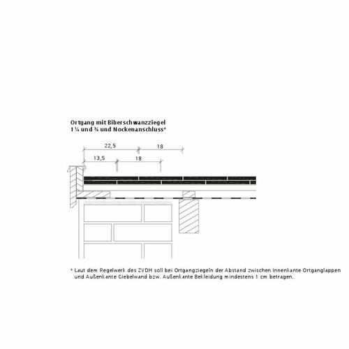 Rysunek techniczny produktu KLASSIK OG-Ausbildung-Biber-3-4-1-4-Nockenanschluss