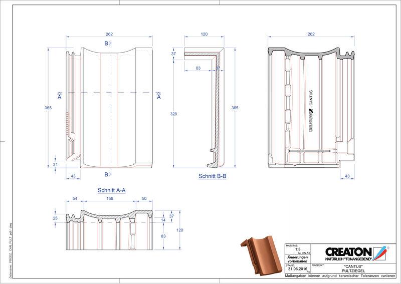 Plik CAD produktu CANTUS dachówka pulpitowa PULT