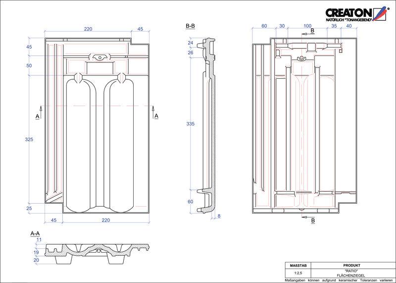 Plik CAD produktu RATIO dachówka połaciowa FLA