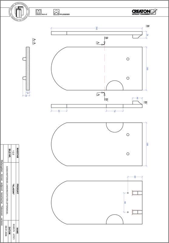Plik CAD produktu KLASSIK krój zaokrąglony RUND-AUSSCHNITT-LUEFTZ