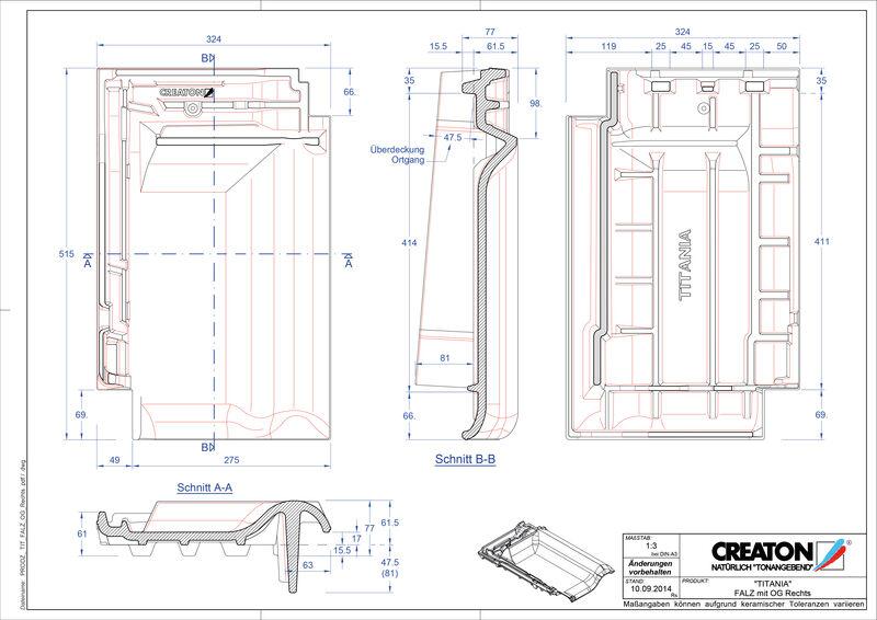 Plik CAD produktu TITANIA dachówka kalenicowa wentylacyjna boczna prawa FALOGR