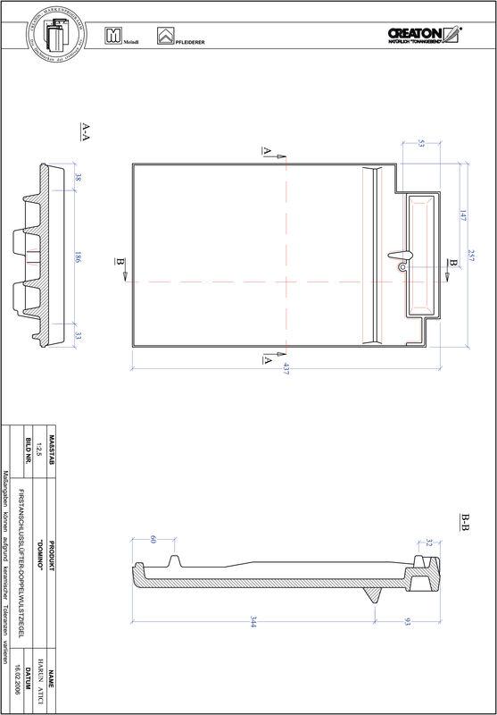 Plik CAD produktu DOMINO dachówka kalenicowa wentylacyjna dwufalowa FALDWZ