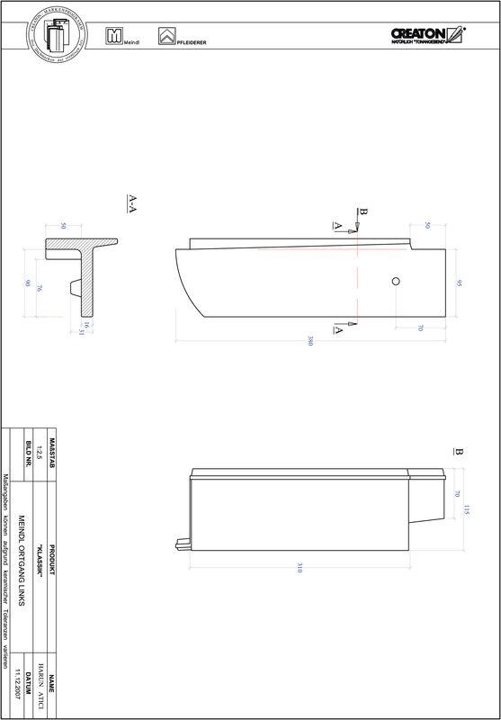 Plik CAD produktu KLASSIK krój zaokrąglony RUND-OGL