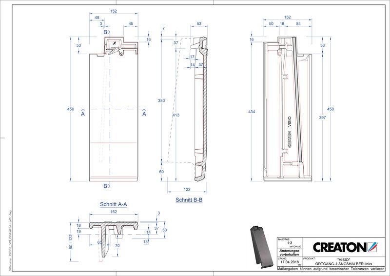 Plik CAD produktu VISIO dachówka połówkowa boczna lewa LHOGL