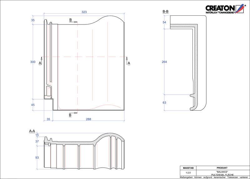 Plik CAD produktu BALANCE dachówka pulpitowa połaciowa PULTFLA