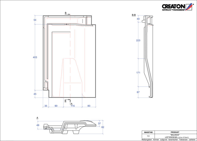 Plik CAD produktu BALANCE dachówka wentylacyjna LUEFTZ