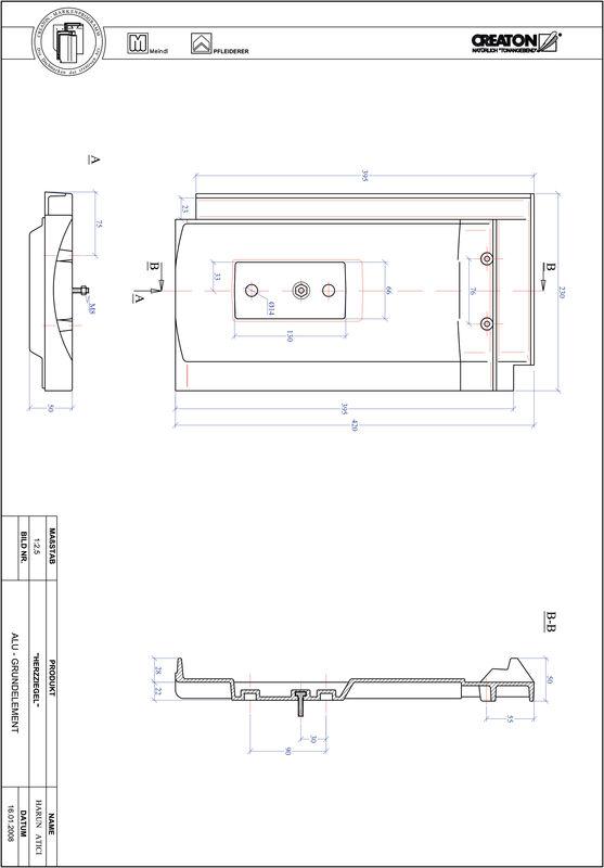 Plik CAD produktu HERZZIEGEL aluminium grunt. GRUNDALU