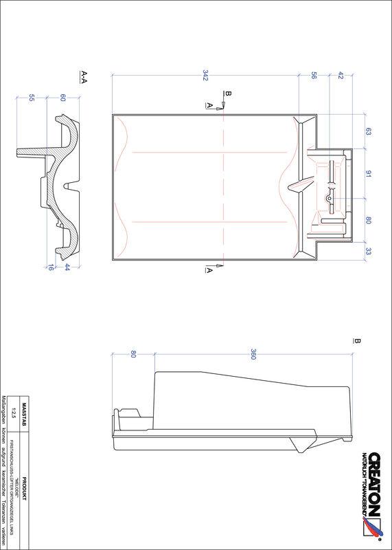 Plik CAD produktu MELODIE dachówka kalenicowa wentylacyjna boczna lewa FALOGL
