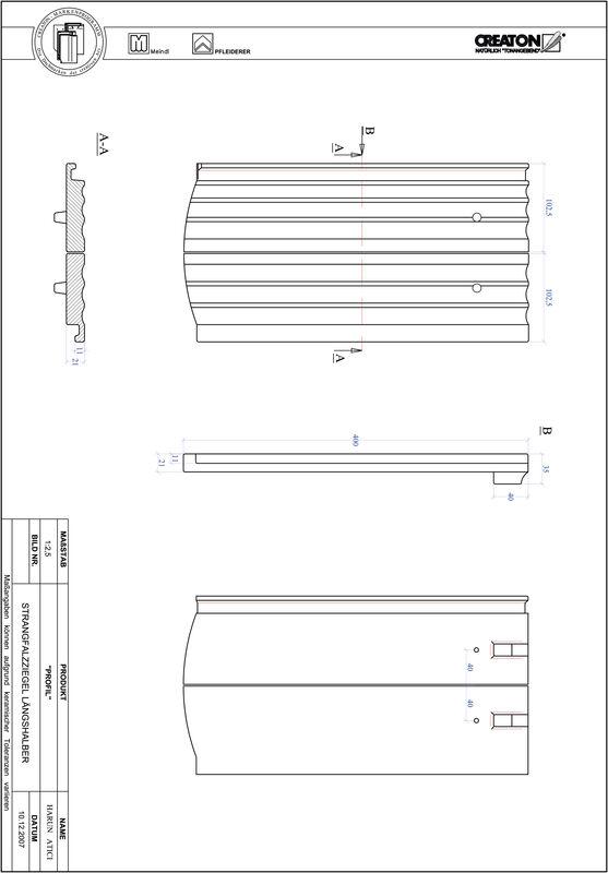 Plik CAD produktu PROFIL krój segmentowy STRANGFALZ-GEWELLT-LH
