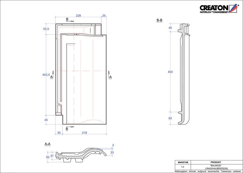 Plik CAD produktu BALANCE dachówka połówkowa LH