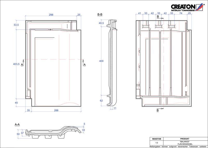 Plik CAD produktu BALANCE dachówka połaciowa FLA