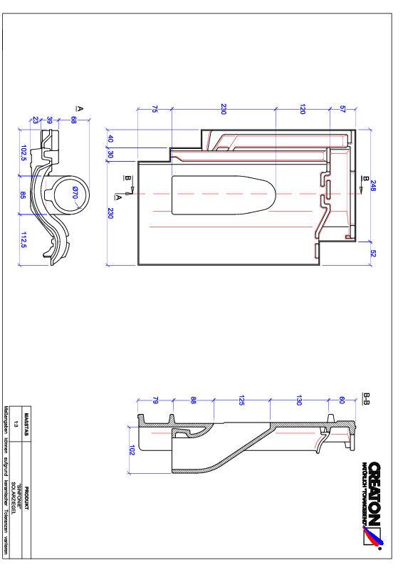 Plik CAD produktu SINFONIE dachówka przelotowa do systemu baterii solarnych SOLAR