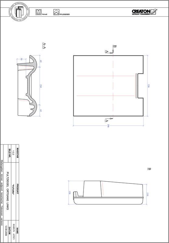 Plik CAD produktu FUTURA dachówka pulpitowa boczna lewa PULTOGL