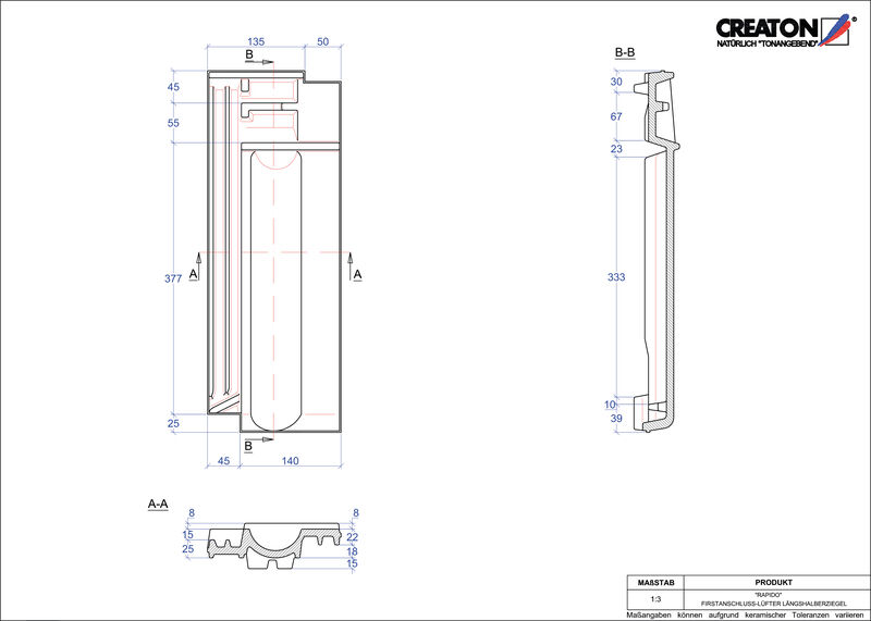 Plik CAD produktu RAPIDO dachówka kalenicowa wentylacyjna połówkowa FALLH