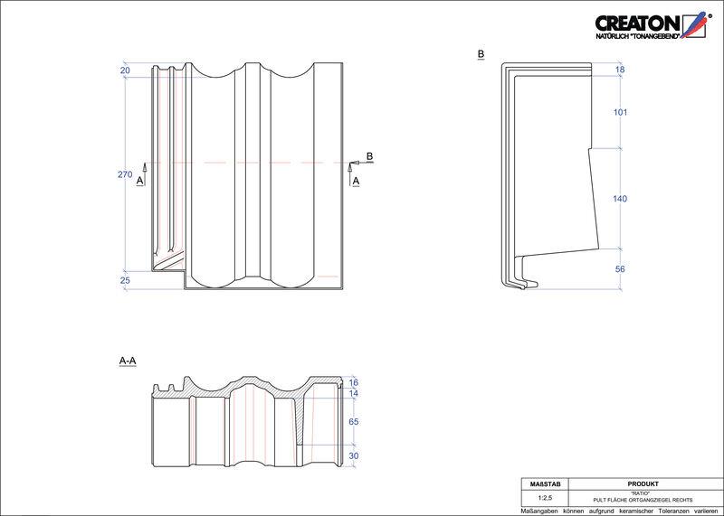 Plik CAD produktu RATIO dachówka pulpitowa boczna prawa PULTOGR
