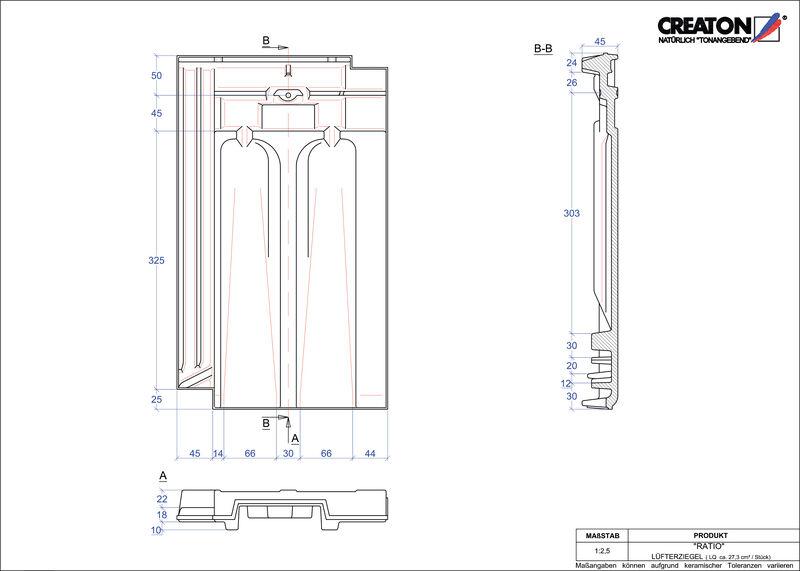 Plik CAD produktu RATIO dachówka wentylacyjna LUEFTZ