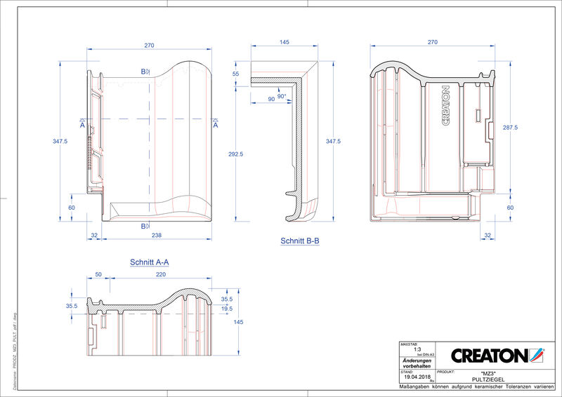 Plik CAD produktu MZ3 dachówka pulpitowa PULT