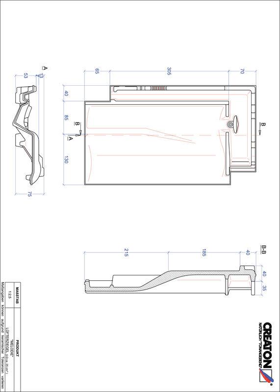 Plik CAD produktu MELODIE dachówka wentylacyjna LUEFTZ