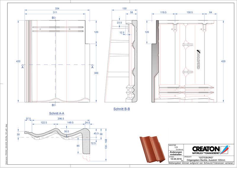 Plik CAD produktu GÖTEBORG dachówka pulpitowa boczna prawa PultOGR-120