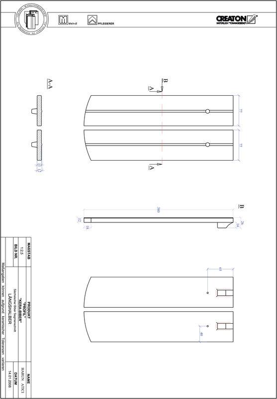 Plik CAD produktu PROFIL krój segmentowy KERA-SAECHS-15-CM-LH