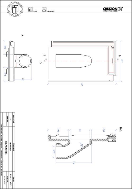 Plik CAD produktu DOMINO dachówka przelotowa do systemu baterii solarnych SOLAR